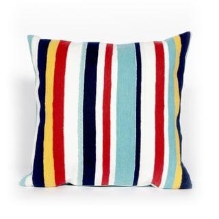 Liora Manne Varied Stripe Multi Indoor/Outdoor Throw Pillow