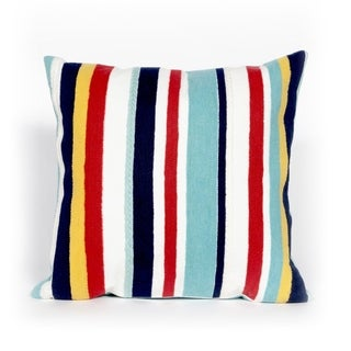 Liora Manne Varied Stripe Multi Indoor/Outdoor Throw Pillow