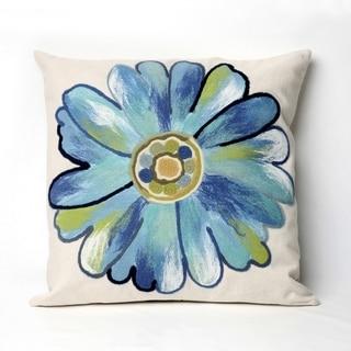 Liora Manne Gerber Aqua Indoor/Outdoor Throw Pillow