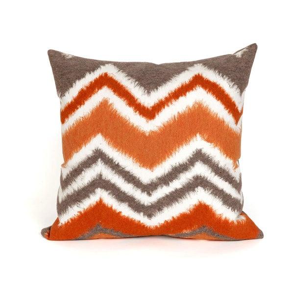 Shop Chevron Fade Orange Indoor Outdoor Throw Pillow On Sale