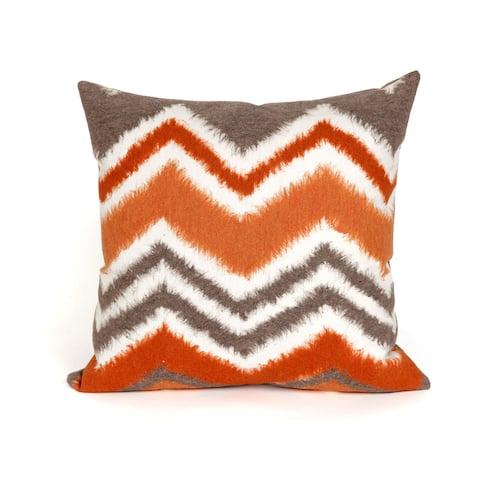 Chevron Fade Orange Indoor/Outdoor Throw Pillow
