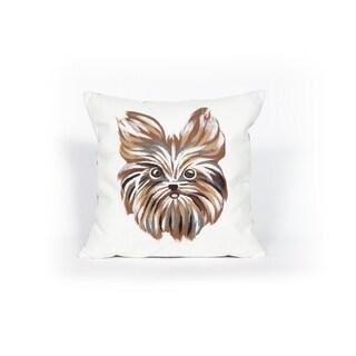 Yorkie Indoor/Outdoor Throw Pillow