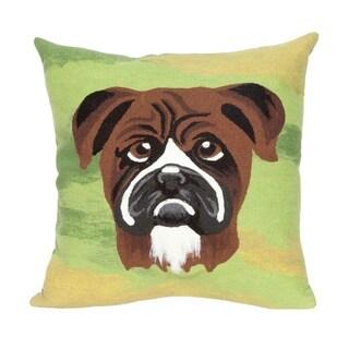 Liora Manne Boxer Indoor/Outdoor Throw Pillow