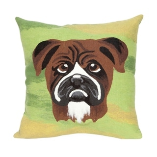 Liora Manne Boxer Indoor/Outdoor Throw Pillow