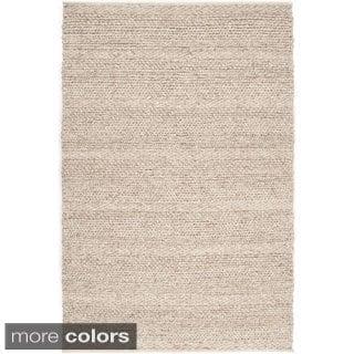 The Gray Barn Magda Hand-woven Solid Wool Area Rug - 9' x 13' - Thumbnail 0