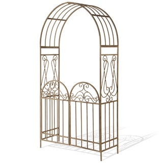 National Tree Company 93-inch Metal Arch with Gate