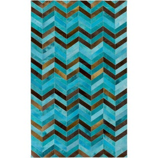 Hand-Crafted Maddison Animal Hair On Hide Area Rug