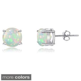 Glitzy Rocks Sterling Silver 4 mm Ethiopian Opal Stud Earrings
