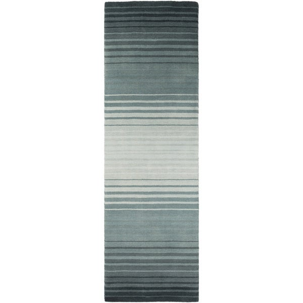 Hand-Loomed Brenden Stripe New Zealand Wool Area Rug