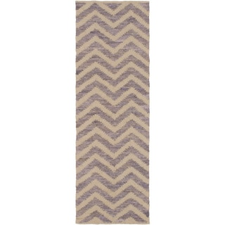 Hand-Loomed Caroline Chevron Cotton Rug (2'6 x 8')