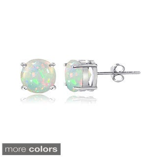 Glitzy Rocks Sterling Silver 1 1/10ct Ethiopian Opal Stud Earrings, 6 mm