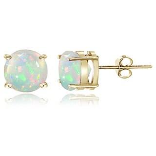 Link to Glitzy Rocks Sterling Silver 8 mm Ethiopian Opal Stud Earrings Similar Items in Earrings