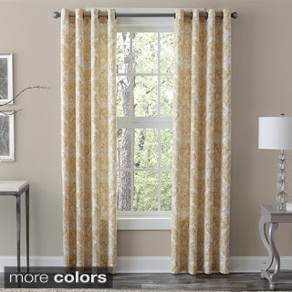 Grand Luxe 100-percent Linen Medallion Window Curtain Panel