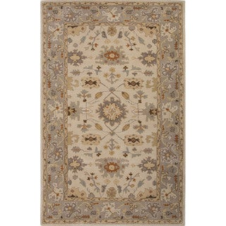 Handmade Blue Ivory Wool Easy Care Rug 9 X 12 As Is