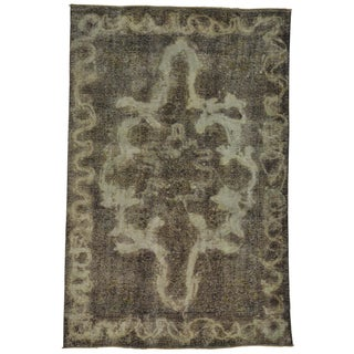 Oriental Oxidized Worn Persian Tabriz Handmade Area Rug (6'4 x 9'8)