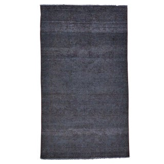 Overdyed Worn Persian Hamadan Oriental Handmade  Area Rug (4'7 x 8')