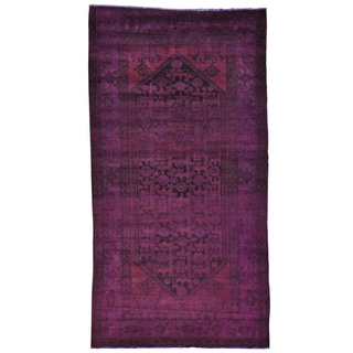 Overdyed Worn Persian Baluch Handmade Oriental Area Rug (5'1 x 9'8)