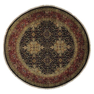 Round Kashan Revival Oriental New Zealand Wool Area Rug (9'8 x 10')
