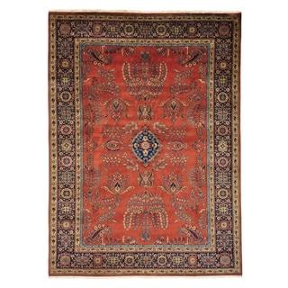 Handmade Oriental Sarouk Fereghan New Zealand Wool Area Rug (8'10 x 12'1)