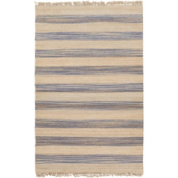 Hand-woven Becky Stripe Jute Rug (8' x 11')