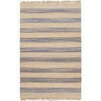 Hand-woven Becky Stripe Jute Area Rug - 8' x 11'