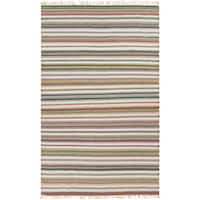 Hand-woven Tommy Stripe Reversible Area Rug - 8' x 10'