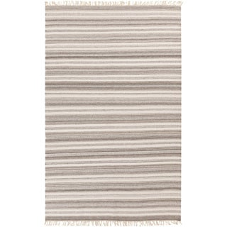 Hand-woven Tommy Stripe Reversible Area Rug (9 x 13 - Grey)