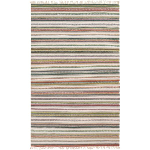 Hand-woven Tommy Stripe Reversible Area Rug (9' x 13')