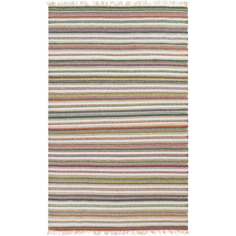 Hand-woven Tommy Stripe Reversible Area Rug
