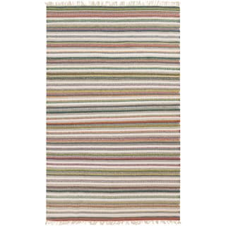 Hand-woven Tommy Stripe Reversible Rug (2' x 3')