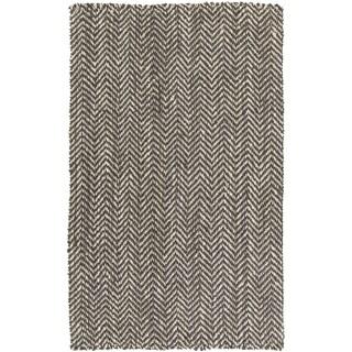 Hand-woven Abbie Stripe Jute Area Rug