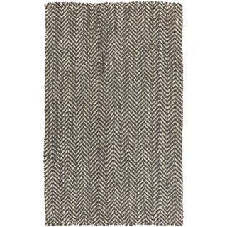 Hand-woven Abbie Stripe Jute Rug (8' x 11')