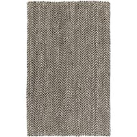 Hand-woven Abbie Stripe Jute Area Rug - 8' x 11'