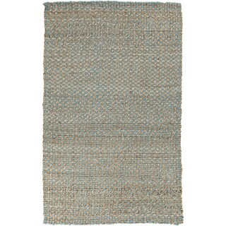 Hand-woven Alaya Stripe Jute Rug (8' x 11')