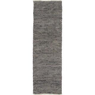 Hand-loomed Frantz Stripe Reversible Rug (2'6 x 8')