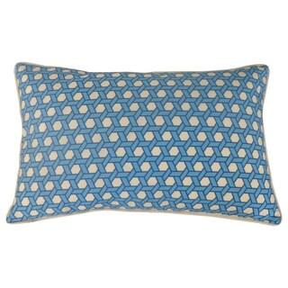 Jiti Lanyard Pattern Blue 12x20 Indoor/ Outdoor Throw Pillow