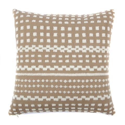 Jiti Tan Dot Cotton Outdoor Pillow - 20 x 20