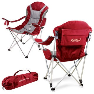 Red Budweiser Digital Print Reclining Camp Chair