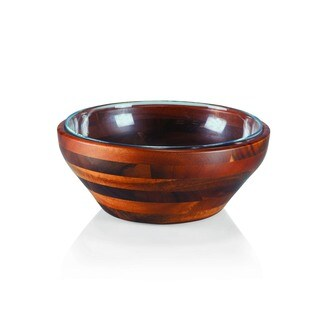 Carovana One Wood and One Glass Bowl 2.75-quart Nested Set