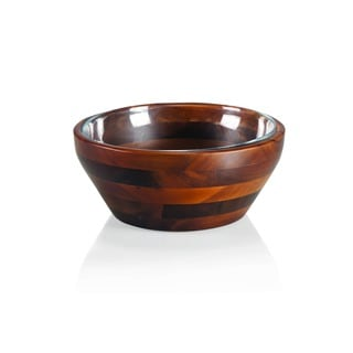 Carovana One Wood and One Glass Bowl 1.5-quart Nested Set