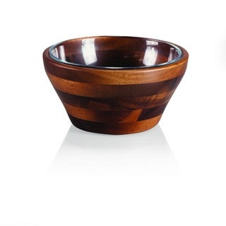 Carovana One Wood and One Glass Bowl Nested Set