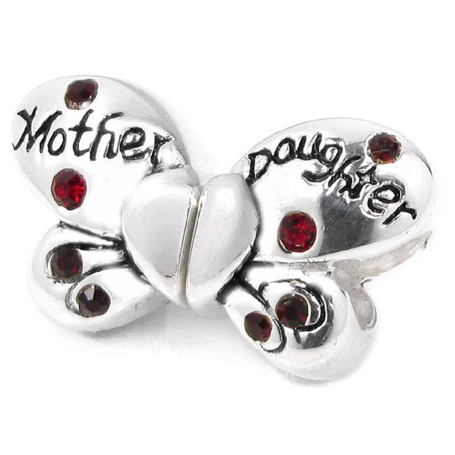 Reflection Beads Sterling Silver Small Butterfly Bead 9 x 9 mm