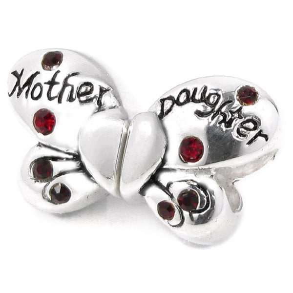 bc4e6e0a3 Shop Queenberry Sterling Silver Red Cubic Zirconia Butterfly Heart European  Bead Charm Set - Free Shipping On Orders Over $45 - Overstock - 9999909