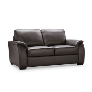Abbyson Ashton Brown Top Grain Leather Loveseat