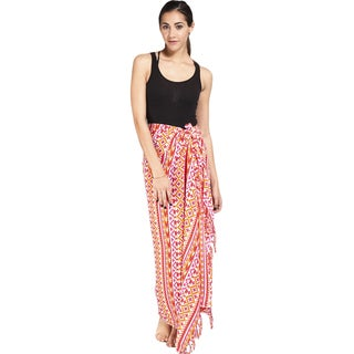 Women's Colorful Aztec Print Sarong Wrap (Indonesia)
