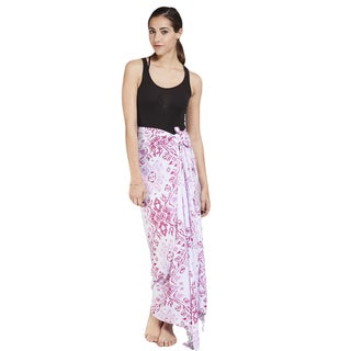 Women's Colorful Geometric Floral Sarong Wrap (Indonesia)