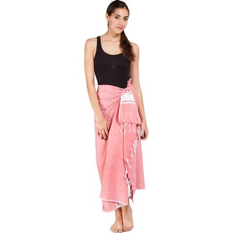Handmade Women's Summer Fouta Cotton Sarong Wrap (India)