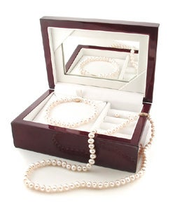 Freshwater Pearl 3-piece Set with Plush Box (Set of 3)