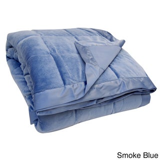 All-season Oversized Microplush Reversible Down Alternative Blanket