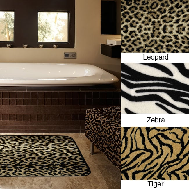 Animal print memory foam 20 x 32 bath mats set of 2 free shipping on orders over 45